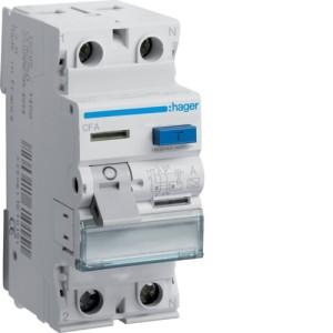Устройство защитного отключения 2P, 63A, 300mA, A-тип, Hager