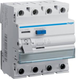 Устройство защитного отключения 4P, 25A, 300mA, A-тип,Hager