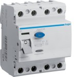 Устройство защитного отключения 4P, 100A, 500mA, A-тип, Hager