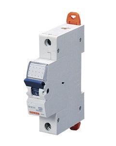 Миниатюрный автоматический выключатель 1 полюсный 13А 6kA C характеристика