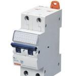 Миниатюрный автоматический выключатель 1 полюс + N 40А  6kA C характеристика