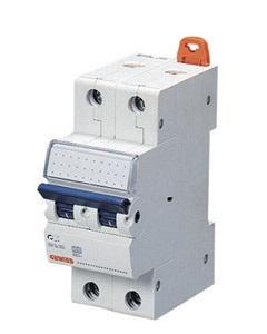 Миниатюрный автоматический выключатель 2 полюсный, 63A  6kA C характеристика