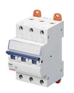 Миниатюрный автоматический выключатель 3 полюсный, 6А  6kA C характеристика