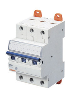 Миниатюрный автоматический выключатель 3 полюсный, 25А  6kA C характеристика