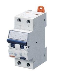 Дифференциальный автоматический выключатель 1P+N 6kA C-6A 30mA AC-тип