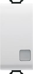 Односторонний переключатель 2P одномодульный с индикатором