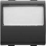 Кнопка с подсвечиваемой табличкой  назначения трех модульная