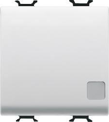 Двухсторонний переключатель 1P двухмодульный с индикатором