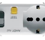 Автоматический дифференциальный выключатель 1P+N C16 3kA 10mA  и розетка(типа P30- P17) c заземления 2P