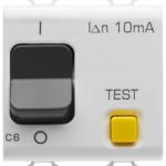 Автоматический дифференциальный выключатель 1P+N C6 3kA 10mA 230V AC