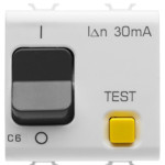 Автоматический дифференциальный выключатель 1P+N C6 3kA 30mA 230V AC