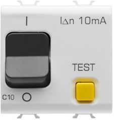 Автоматический дифференциальный выключатель 1P+N C10 3kA 10mA 230V AC