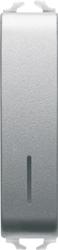 Выключатель 1/2 модульный с подсветкой
