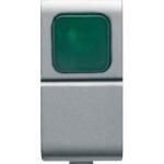 Кнопка 1P(NО) одномодульная с зеленым индикатором