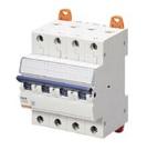 Миниатюрный автоматический выключатель 4 полюсный, 6А  6kA C характеристика