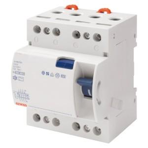 Устройство защитного отключения 4P 100A 300mA AC-тип N-полюс с лева