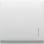 Двухсторонний переключатель 1P двухмодульный c подсветкой