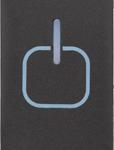 Повторитель сенсорных команд  с подсветкой 1модульный