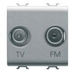 TV-SAT розетка двухмодульная 0 db