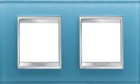 2-местная рамка из стекла (горизонтальная)