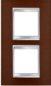 2-местная рамка из металла (вертикальная)