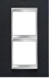 2-местная рамка из кожи (вертикальная) LUX INTERNATIONAL