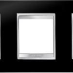3-местная рамка из технополимера (горизонтальная)