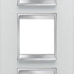 3-местная рамка из стекла (вертикальная)
