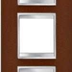 3-местная рамка из металла (вертикальная)