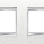 4-местная рамка из кожи (горизонтальная)