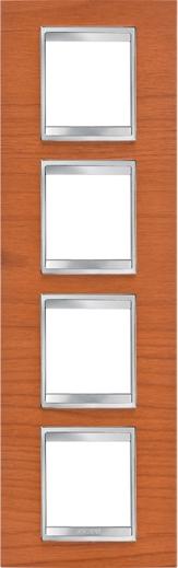 4-местная рамка из дерева  (вертикальная)