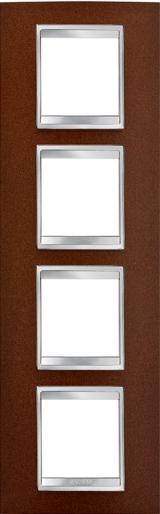 4-местная рамка из металла (вертикальная)