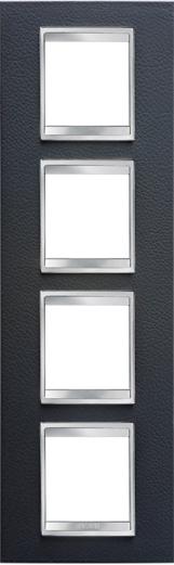 4-местная рамка из кожи (вертикальная)
