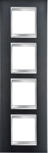4-местная рамка из технополимера (вертикальная)