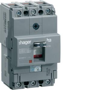 Силовой автоматический выключатель  серии x160, TM рег., 3P, 100 A,  25kA