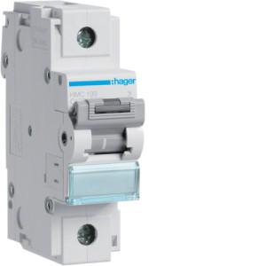 Миниатюрный автоматический выключатель 1 полюс 125А 15kA характеристика C 1,5м