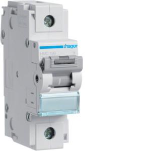 Миниатюрный автоматический выключатель 1 полюс 125А 15kA характеристика D 1,5м