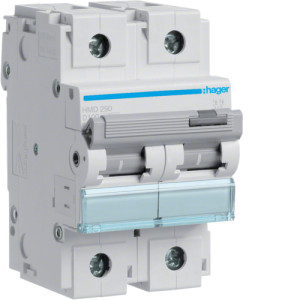 Миниатюрный автоматический выключатель 2 полюс 100А 15kA характеристика D 3м