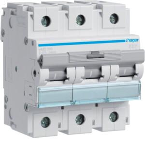 Миниатюрный автоматический выключатель 3 полюс 125А 15kA характеристика D 4,5м