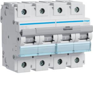 Миниатюрный автоматический выключатель 4 полюс 100А  15kA  характеристика D 6м