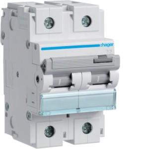 Миниатюрный автоматический выключатель 2 полюс 80А 10kA характеристика C 3м