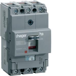 Силовой автоматический выключатель  серии x160, TM рег., 3P,  160 A,  40kA