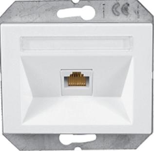 Kомпьютерная розетка 1xRJ45 CAT5e UTP без рамки