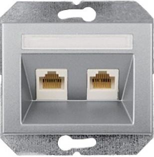 Компьютерная розетка 2xRJ45 CAM5e UTP (AMP) без рамки