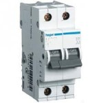 Миниатюрный автоматический выключатель 2 полюсный, 16А, 6kA, характеристика C, MC