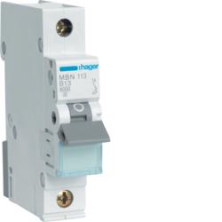 Миниатюрный автоматический выключатель 1 полюсный, 13А, 6kA, B характеристика, MBN