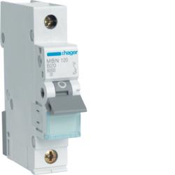 Миниатюрный автоматический выключатель 1 полюсный, 20А, 6kA, характеристика B, MBN