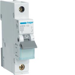 Миниатюрный автоматический выключатель 1 полюсный, 32А, 6kA, характеристика B, MBN