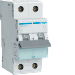 Миниатюрный автоматический выключатель 2 полюсный, 13А, 6kA, характеристика B, MBN