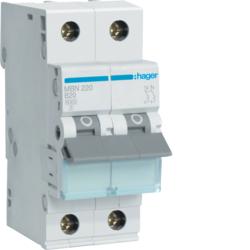 Миниатюрный автоматический выключатель 2 полюсный, 20А, 6kA, характеристика B, MBN